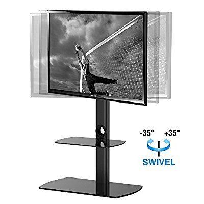 Fitueyes Soporte para TV de suelo, giratorio con dos estantes para televisores marca Sony/Samsung/LG/Vizio TVY/Samsung/LG/Vizio de 32- 50 pulgadas fabricado por Fituyes(TT206501GB)
