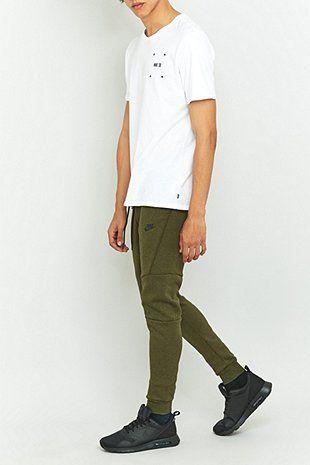 Nike - Pantalon de jogging technique en molleton vert foncé