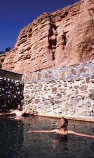 Ojo Caliente spa in northern New Mexico.  A friend recommended this place.