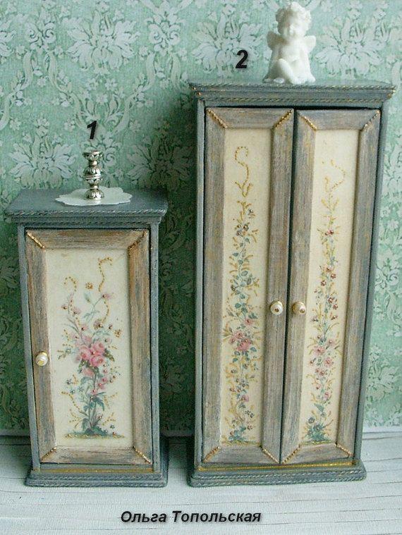 Cupboard.Wardrobe. Dollhouse furniture. Scale от OlgaDollhouseArt
