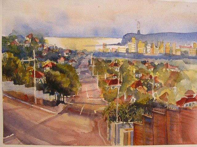 Durban Morningside Bluff    Watercolour      270 x 340 SOLD