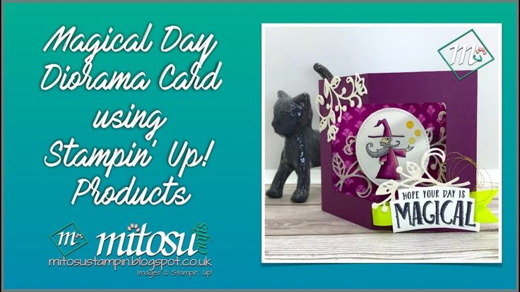 Fun Fold Diorama Card with the Magical Day Wizard by Stampin' Up!
