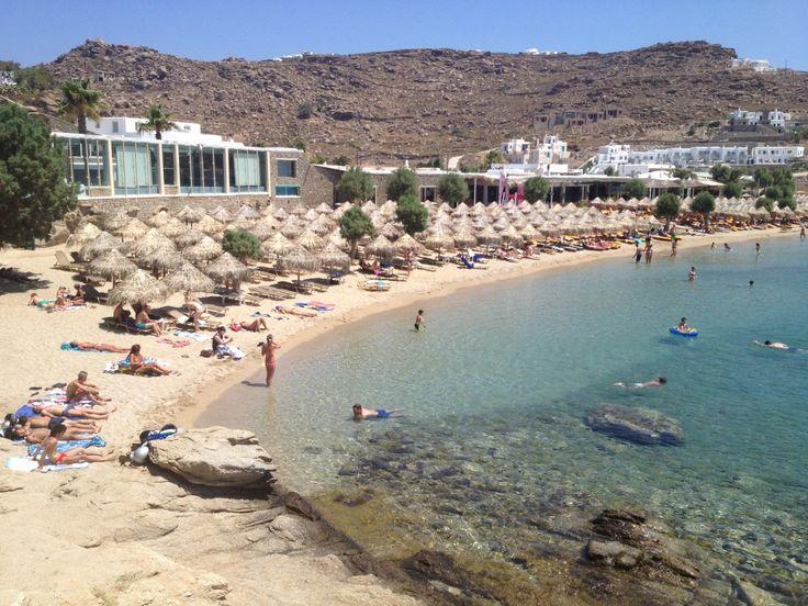 Paraside Beach from Mykonos (Mökene)   Mykonos, Lesvos, Μύκονος, Mökene, Mytillini, Athens, Tyre, Santorini, Oia, Fira, Greece, Grek, Summer, Holiday via Tanerozcelik.com