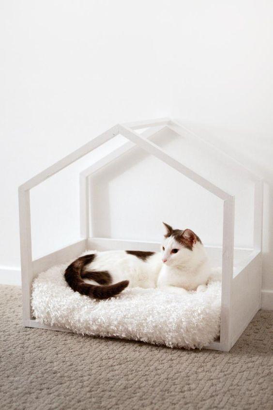 Beyaz minimal kedi evi - Mobilya 398538 | zet.com