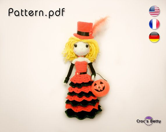 Pattern  Mescaline Princess Pumpkin by CrocsBetty on Etsy