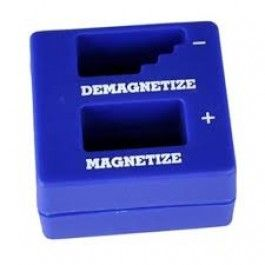 """To magnetize your screwdriver, insert the end of it into the """"Magnetize"""" hole. To demagnetize your screwdriver, repeatedly pull the entire length of the screwdriver through the """"Demagnetize"""" hole. Buy 2 for $4.45 each and save 11% Buy 10 for $3.95 each and save 21% Buy 15 for $3.45 each and save 31%"""