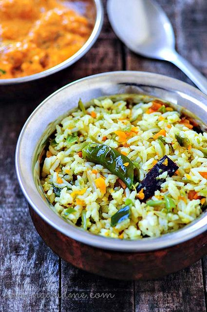 Vegetable Pulao (Indian Saffron Rice with Vegetables).
