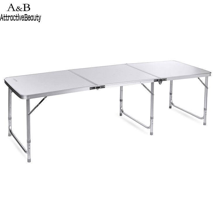 ANCHEER Tragbare Falten Ultraleicht Tisch Aluminium Tisch für Esszimmer Picknick Camping BBQ Partei Camping