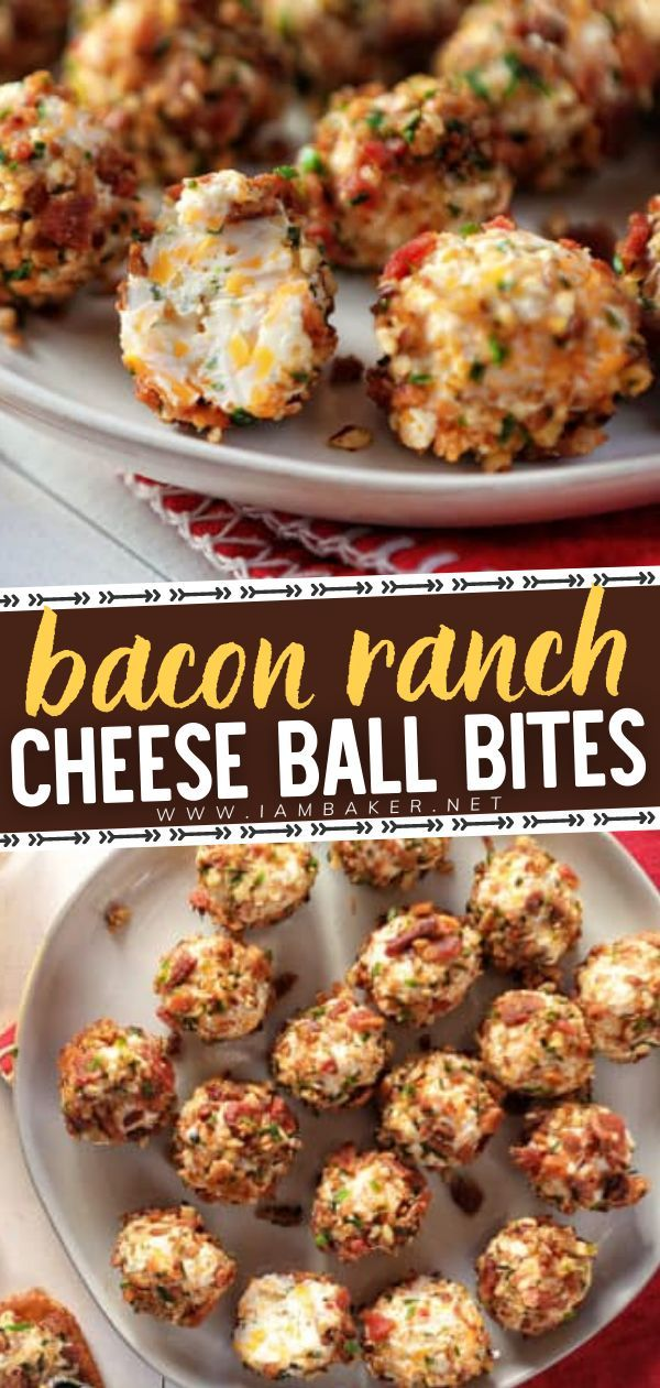 Finger Food Appetizers, Yummy Appetizers, Appetizers For Party, Appetizer Recipes, Keto Recipes, Cooking Recipes, Bacon Ranch Cheeseball, Cheese Ball Recipes, Football Food