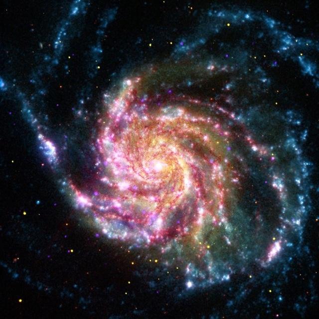 Photo by NASANasa, Spirals Galaxies, M101, Stars, Spaces Telescope, Image, Universe, Milky Way, Pinwheels Galaxies