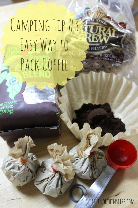 Mess Free Easy way to Pack Coffee #camping #truenorthinspire