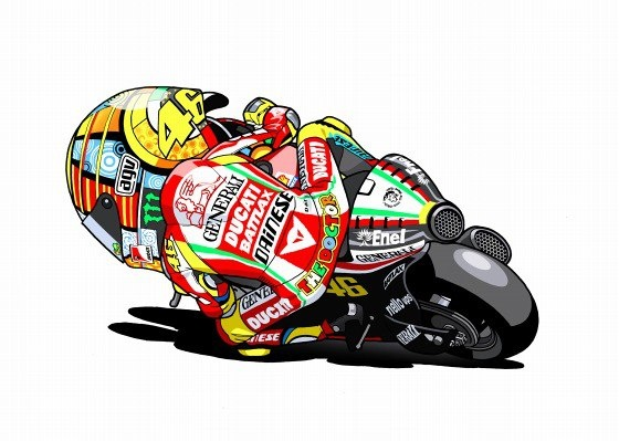 Rossi on the Desmo - Fujiwara Drawing