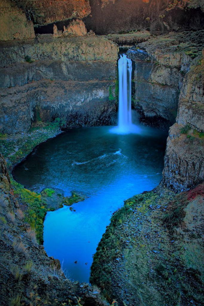 Palouse Waterfall State Park Twilight, Washington State