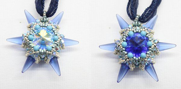 Northern Star Sapphire by Sabine Lippert - tutorial and kit available