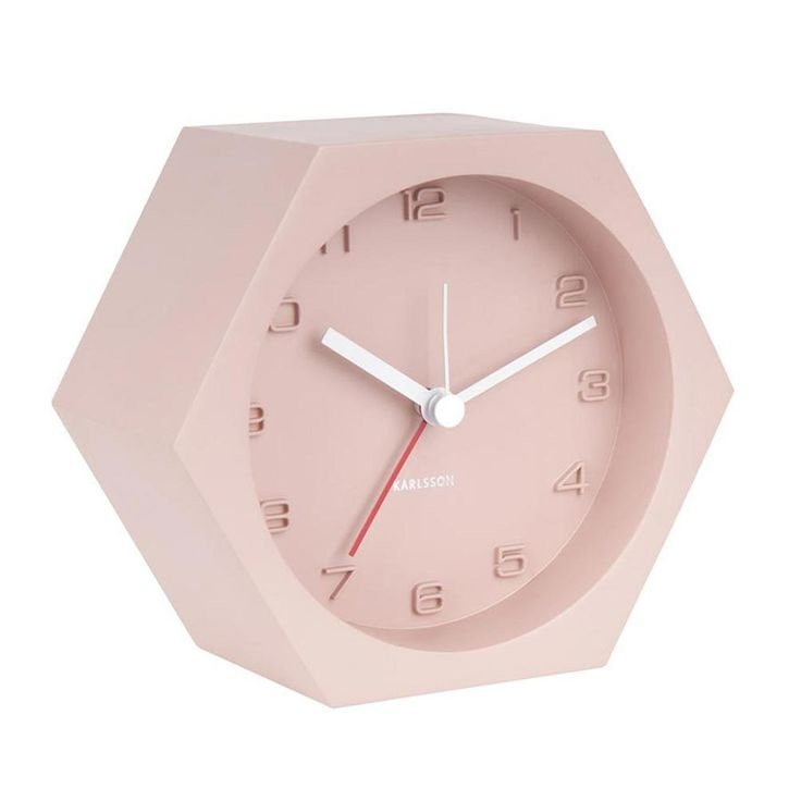 The Design Gift Shop - KARLSSON | Concrete Alarm Clock | Pink, AUD 69.90 (https://www.thedesigngiftshop.com/karlsson-concrete-alarm-clock-pink/)