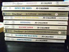 Lot of 9 romance books by Jo Calloway (PB, 1982 to 1985)