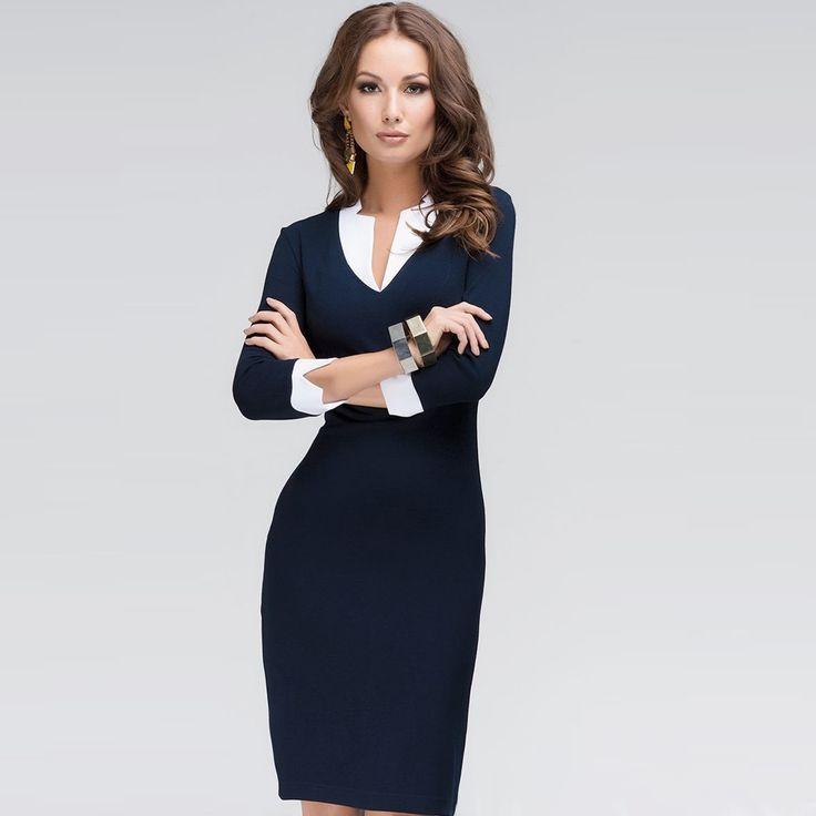 High Fashion Navy Work Dresses
