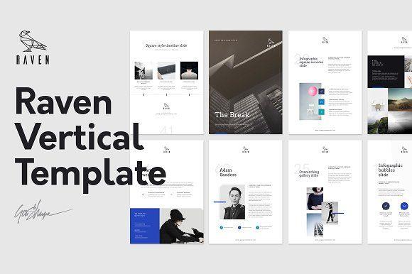 Raven Vertical Keynote / Gift Resume by GoaShape on @creativemarket