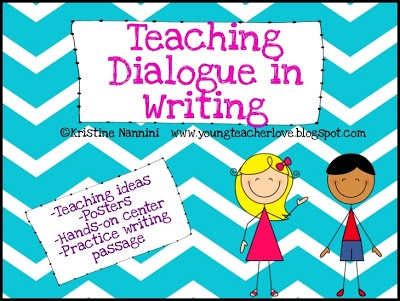 Writing dialogue unit. This freebie is jam-packed with posters, teaching ideas, a center activity and more for  students to master this tough concept, and to help you teach it.