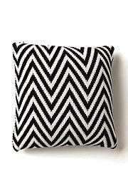 Knitted Zig Zag Cushion