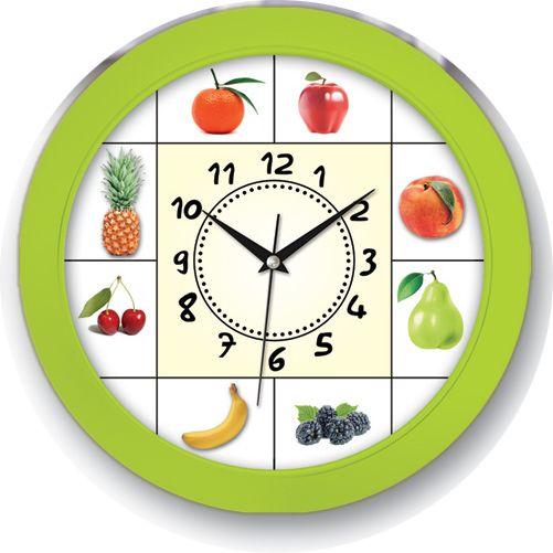 Meyveli Yeşil Renk Mutfak Duvar Saati  Ürün Bilgisi ;  Ürün maddesi : Plastik çerceve, Bombeli plastik cam Ebat : 30 x cm  Mekanizması (motoru) : Akar saniye, saat sessiz çalışır Meyveli Yeşil Renk Mutfak Duvar Saati Saat motoru 5 yıl garantilidir Yerli üretimdir Duvar Saati sağlam ve uzun ömürlüdür Kalem pil ile çalışmaktadır Gördüğünüz ürün orjinal paketinde gönderilmektedir. Sevdiklerinize hediye olarak gönderebilirsiniz