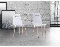 Krzeslo biale - do jadalni - do kuchni - drewniane - BOVIO