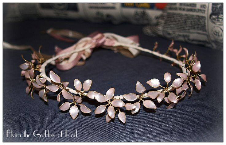Wire and nail polish floral headpiece