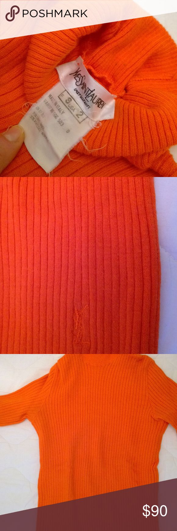 I just added this listing on Poshmark: YVES SAINT LAUREN Orange Sweater, Worn Twice. #shopmycloset #poshmark #fashion #shopping #style #forsale #Yves Saint Laurent #Sweaters
