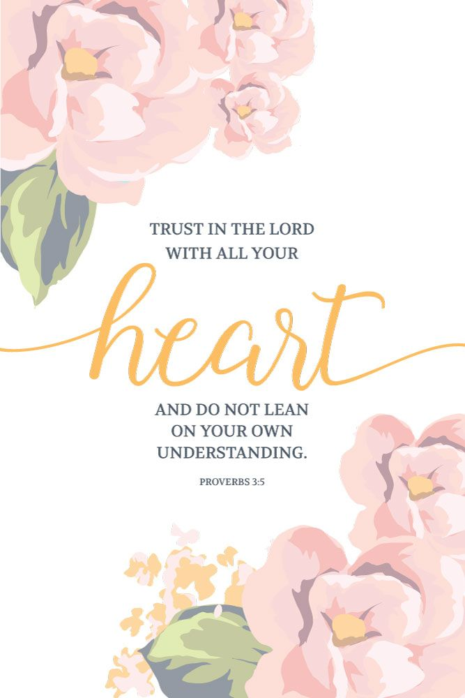 Trust in the Lord with all your heart - Proverbs 3:5 - Seeds of Faith