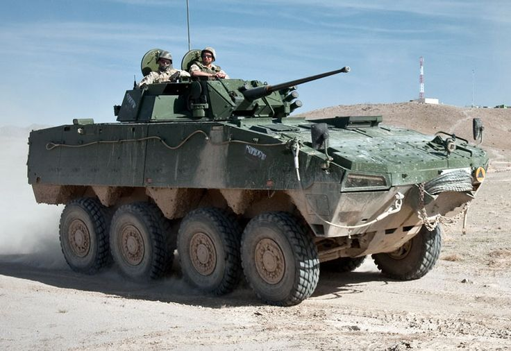 Picture of the Patria AMV (Armored Modular Vehicle) The Patria AMV is a modular 8-wheeled vehicle that is beginning to gain notice from interested military parties worldwide.