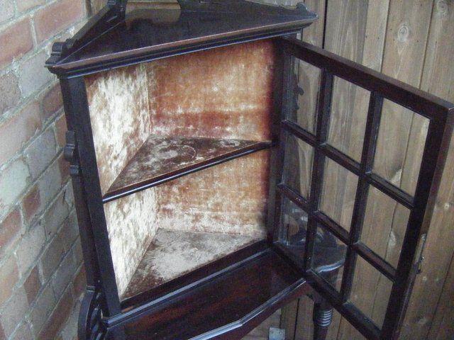 Edwardian Corner Display Cabinet For Sale in Salisbury, Wiltshire