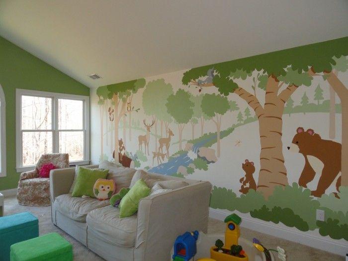 Wandmalerei Kinderzimmer   21 Ideen, Wie Sie Eine Ganz Spezielle  Raumatmosphäre Schaffen