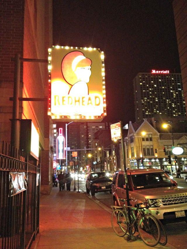 Redhead piano bar Chicago.