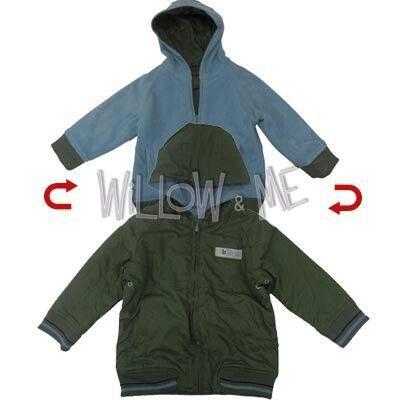 Super warm reversible hoodie  willowandme.biz