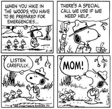 Should I post for on Comics or Scouts? Snoopy Happy Mother's Day.