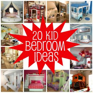 "20 ""COOL"" kid bedrooms idea's!"