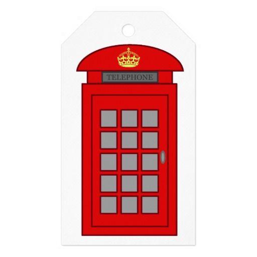 British Telephone Box Pack Of Gift Tags