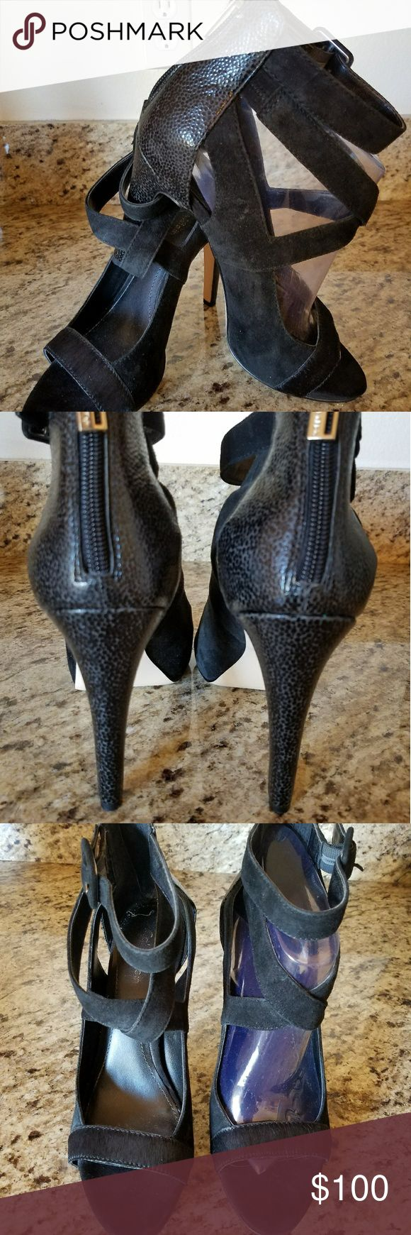 Women's Calvin Klein shoes Leather, suede, cowskin heels. Worn once, no box. Purchased on sale for $175. Excellent condition . Calvin Klein Shoes Heels
