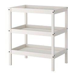SUNDVIK hoitopöytä, valkoinen Pituus: 82 cm Leveys: 54 cm Korkeus: 95 cm