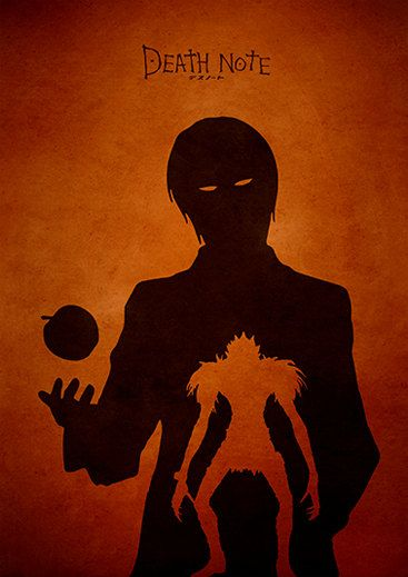 Death Note Minimalist Movie Poster por moonposter en Etsy