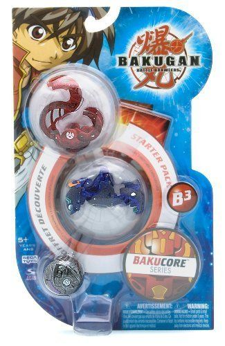 "BakuCore Bakugan Battle Brawlers Series Starter Pack - "" NOT Randomly Picked"", Sold As Shown In The Picture! (CMS3) by Spin Master. $24.79. Starter pack includes: 3 Bakugan, 3 ability cards, and 3 metal gate cards. Bakugan Battle Brawlers BakuCore Series Starter Pack. Warning! Risk of serious digestive injuries in the event that magnets are swallowed!. ""NOT"" randomly picked, you are getting what is shown in the picture.. For age 5 and up. New Bakugan, new cards, new BakuC..."