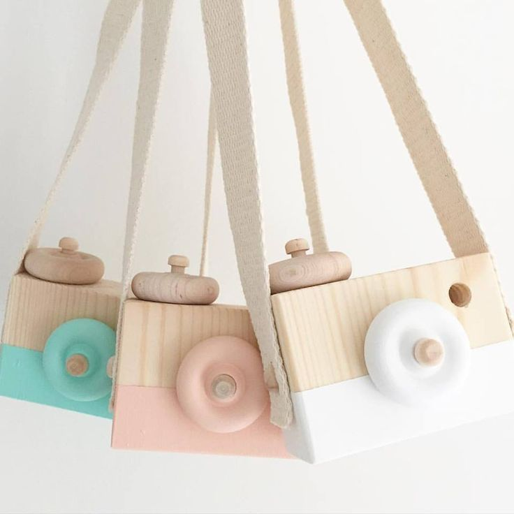 Aussie Bubs Baby Goods And Toys   Wooden Toy Camera   Coral Blossom, $25.95  (