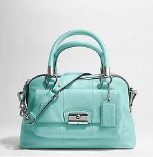 Coach Handbags Tiffany Blue Bag â