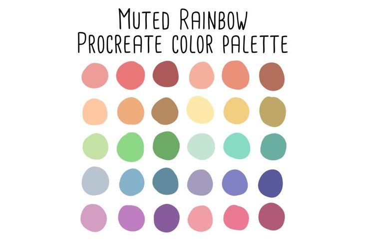 Muted Rainbow Procreate Color Palette | Color palette ...