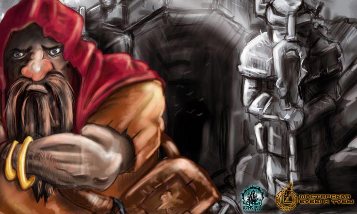 Красный ;)  #dworf #game #art #artwork #boardgame #черныйкристалл #красный #дворф #фишка