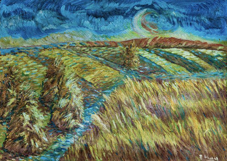 Žito, olej na plátne 50 x 70 cm, Pavel Huszár, Banská Bystrica, Slovakia