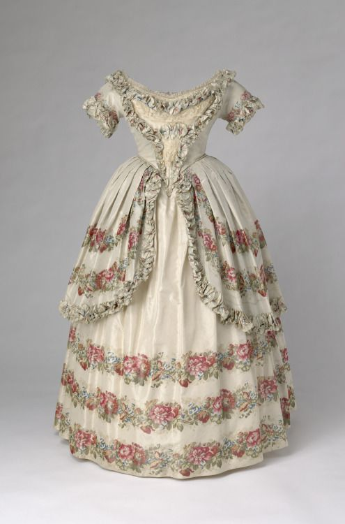 Evening dress of Queen Victoria, 1851From the Royal Collection
