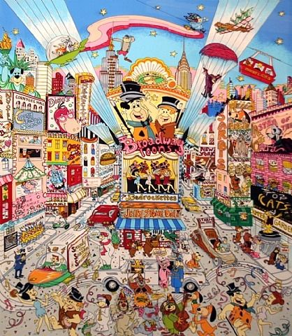 Broadway Toons by Charles Fazzino.  Fazzino's second 3-D art piece ever.
