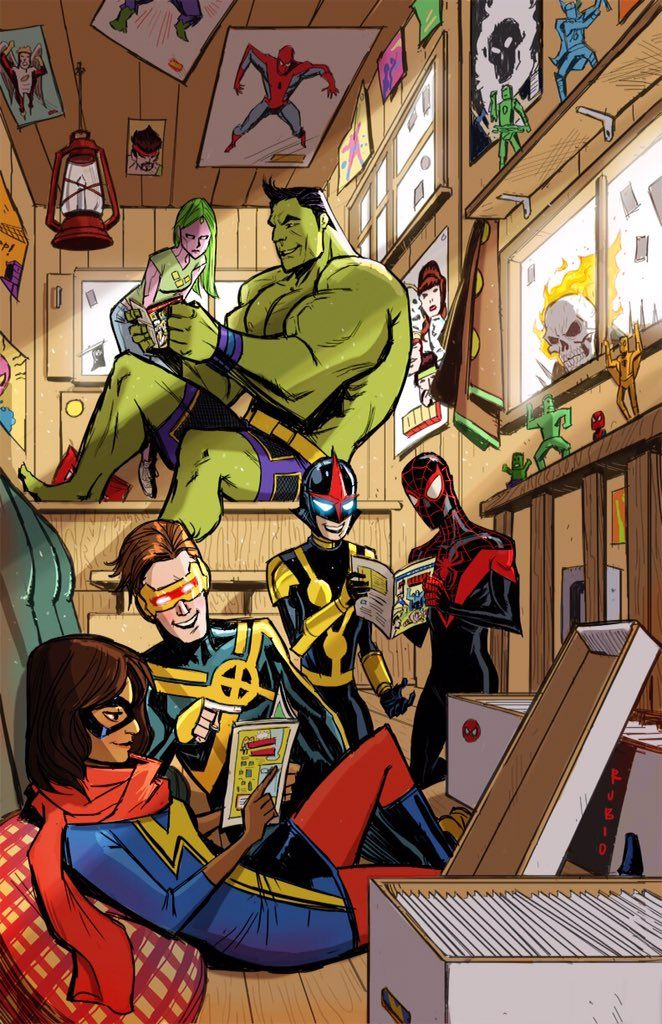 #Hulk #Fan #Art. Awesome Hulk in: Unbeatable Squirrel Girl #13  Champions Variant Marvel Comics 1st PrintCover) By: Boby Robio. (THE * 5 * STÅR * ÅWARD * OF: * AW YEAH, IT'S MAJOR ÅWESOMENESS!!!™)[THANK Ü 4 PINNING!!!<·><]<©>ÅÅÅ+(OB4E)