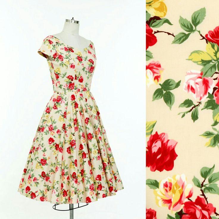 56 besten Vintage Floral Dress Bilder auf Pinterest | Blumenkleider ...